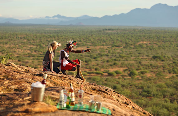 Sundowners at Sasaab Lodge, Kenya