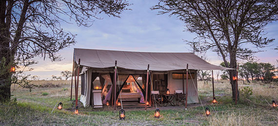 Legendary Serengeti Mobile Camp tent