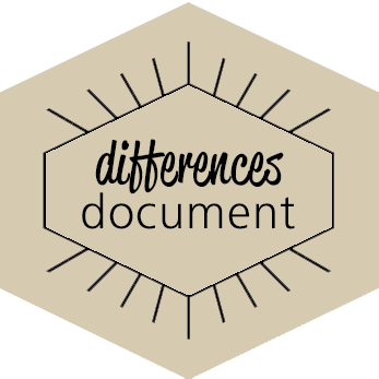 Differences Document