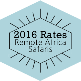 2016 Rates Remote Africa Safaris