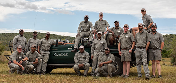 Ranger & tracker team at Kwandwe Private Game Reserve