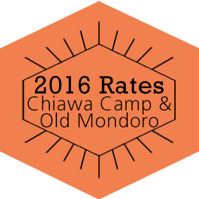 2016 Rates Chiawa Camp & Old Mondoro