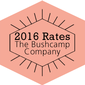 2016 Rates The Bushcamp Company