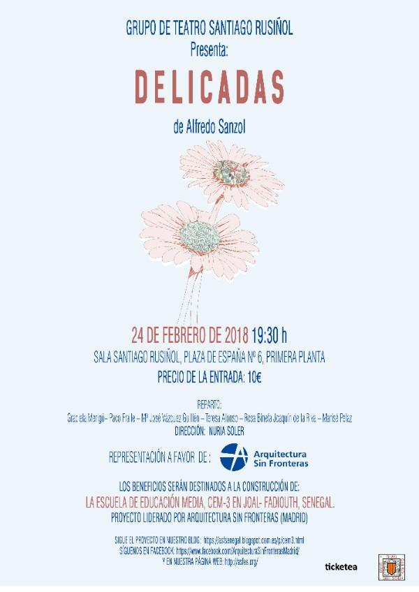 El grupo Santiago Rusiñol presenta: 'Delicadas', una divertida representación a favor de ASF- Madrid