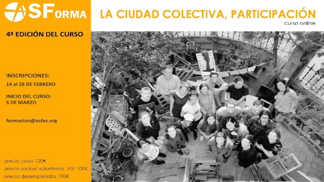 Formación online 'La ciudad colectiva, participación'