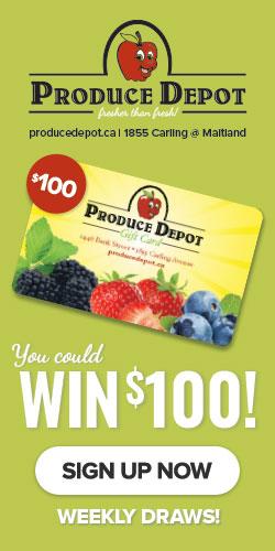 Win $100 at Produce Depot