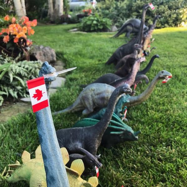 Have a dino-mite Canada Day!