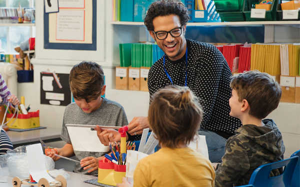 image of a teacher in elementary classroom