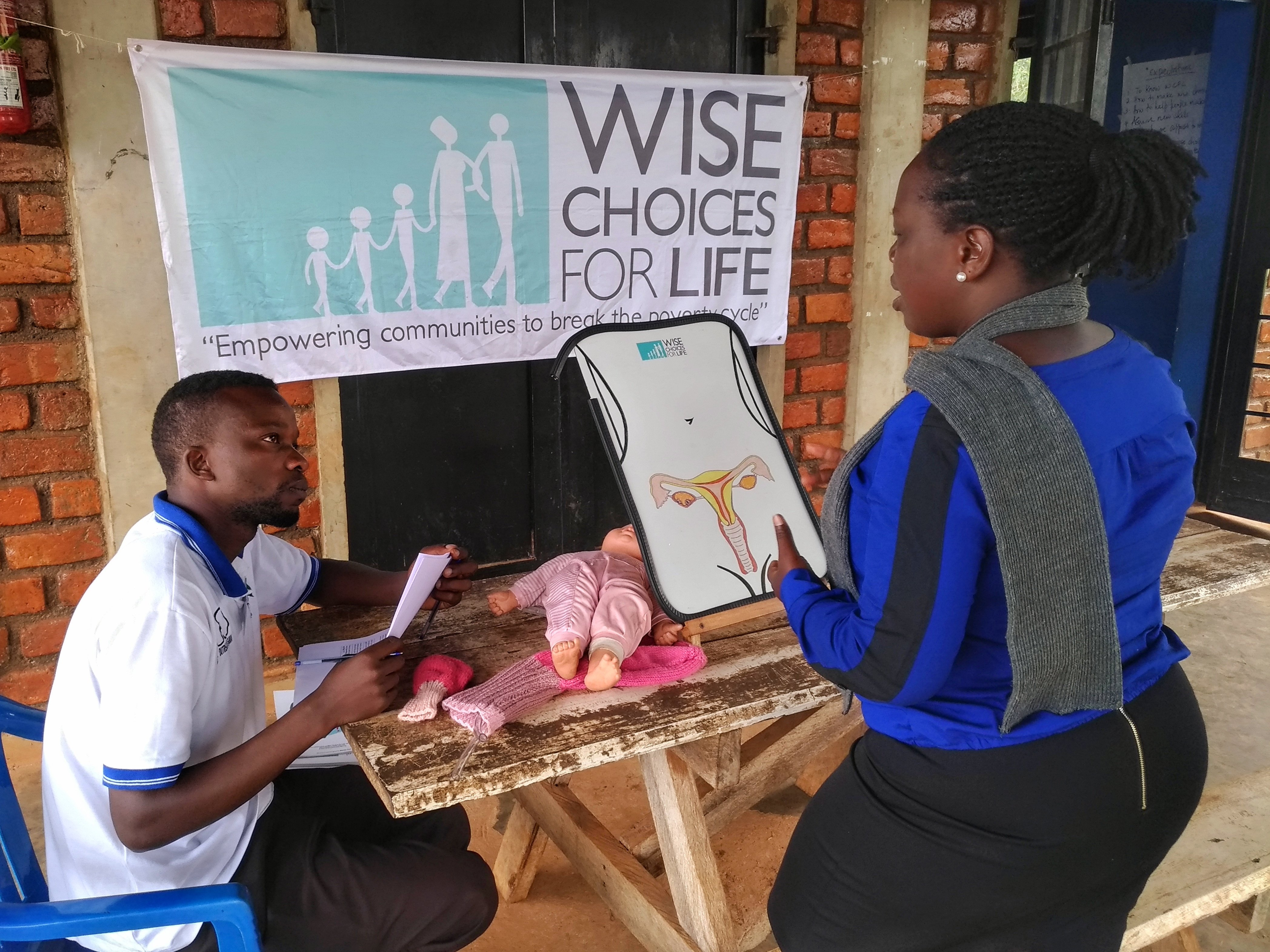 Penlope being tested in Wise Choices for Life