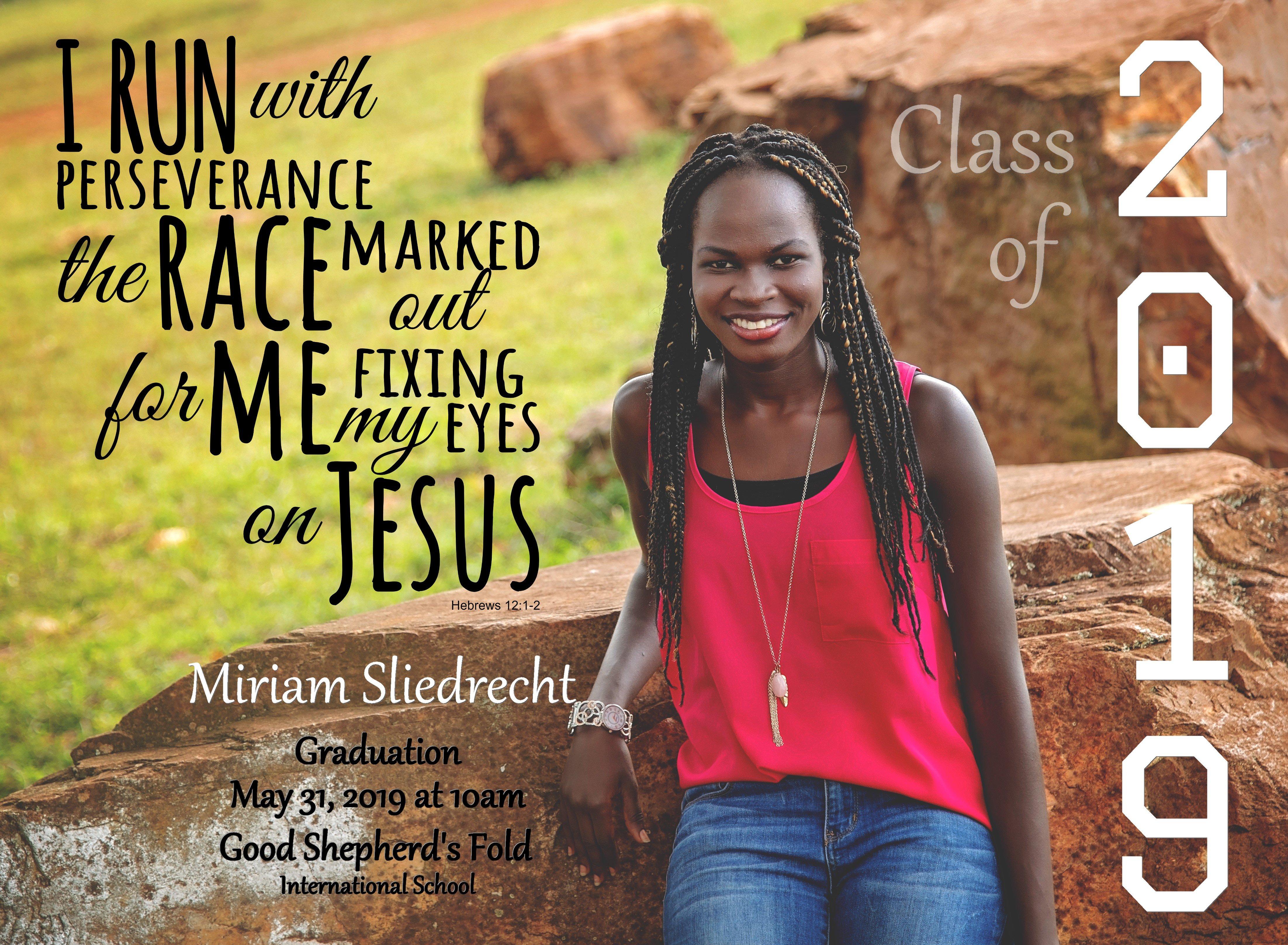 Miriam Graduation Announcement