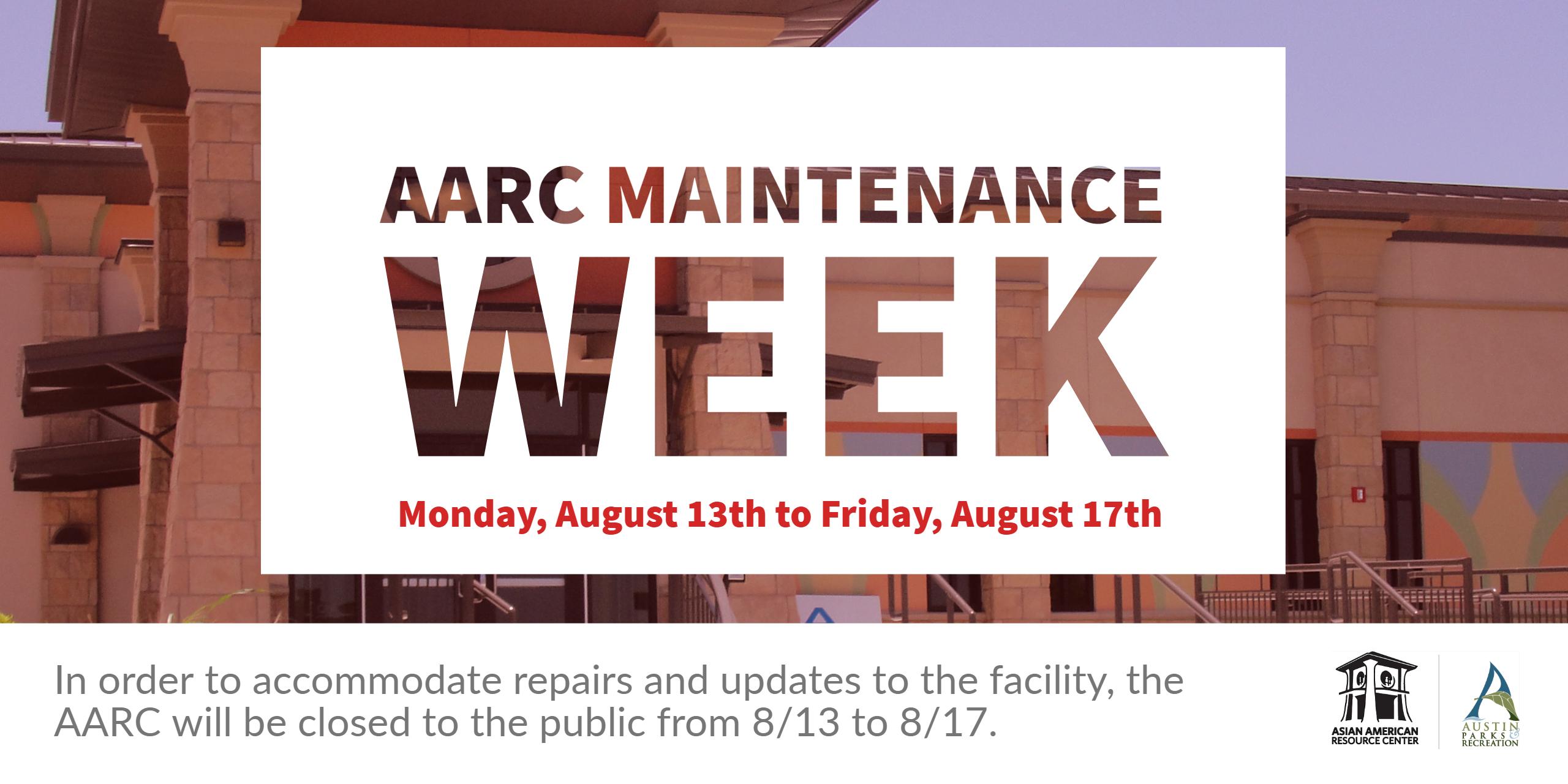 AARC Maintenance Week Banner