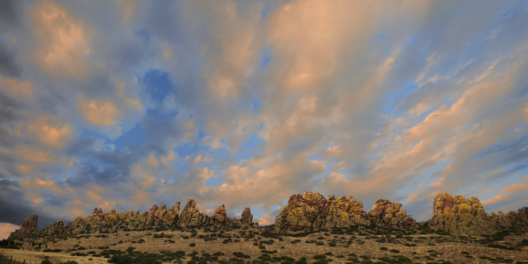 Sunset at Devil's Backbone Open Space by David Clack