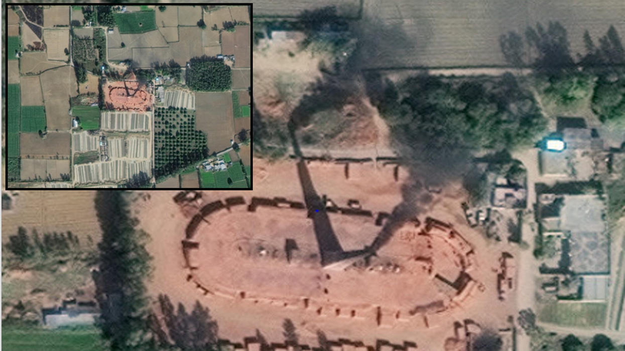 Area of slavery viewed from space