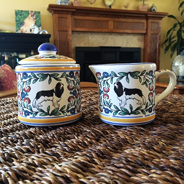 Cavalier King Charles Sugar Bowl and Creamer by www.shepherds-grove.com