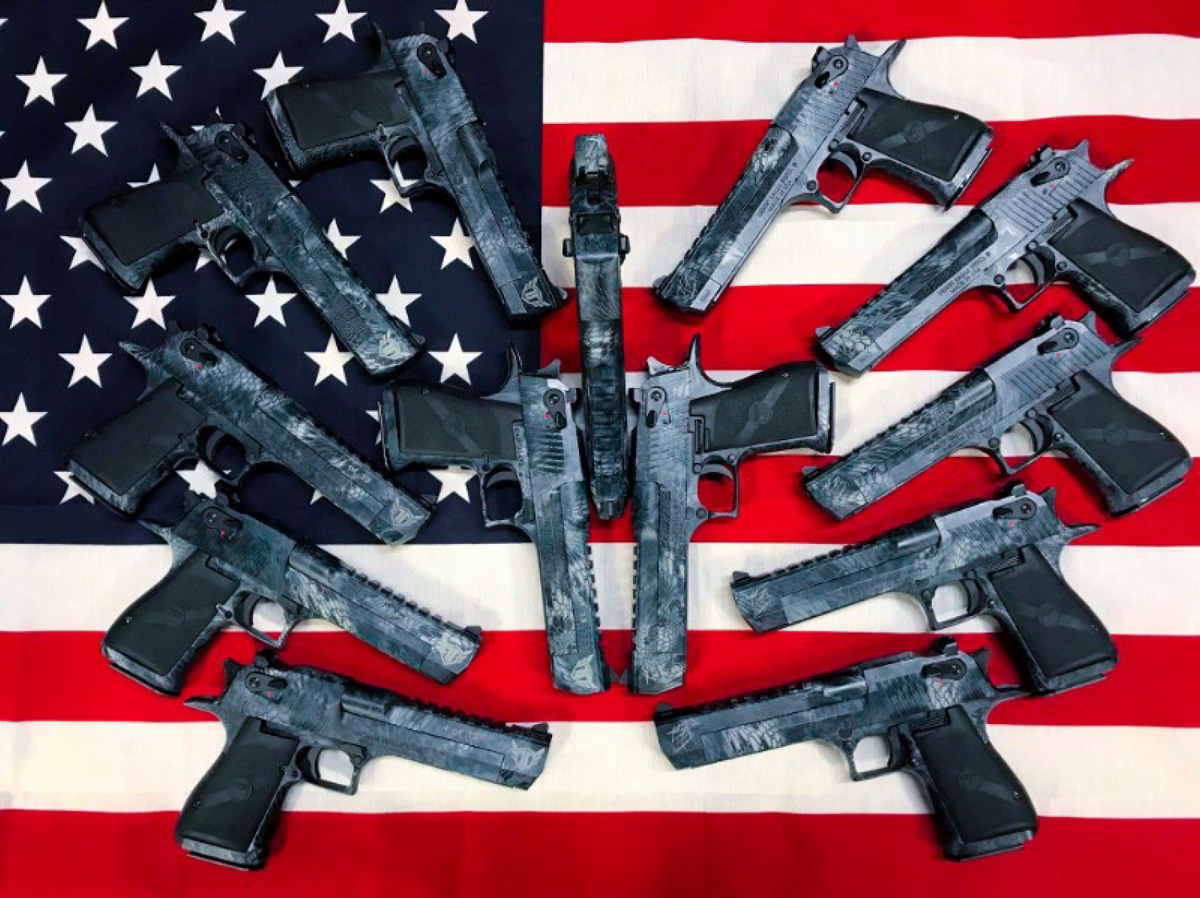 """Kahr Firearms Group Completes Donations for Veterans with Magnum Research """"13 Hours Desert Eagles"""""""