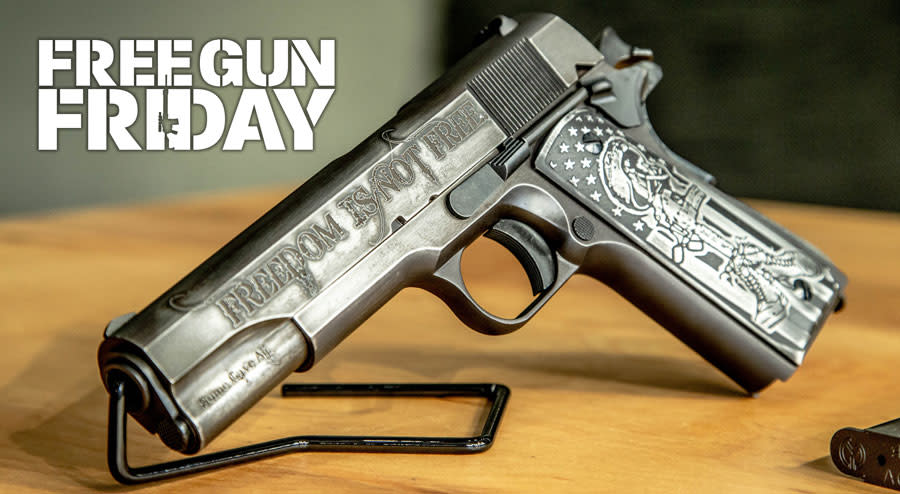 Free Gun Friday: Win an Auto-Ordnance 'I Stand' 1911 Plus 500 Rounds of Black Hills Ammo!