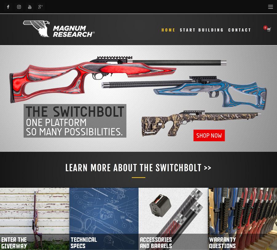 Magnum Research Launches New Custom MLR SwitchBolt Website