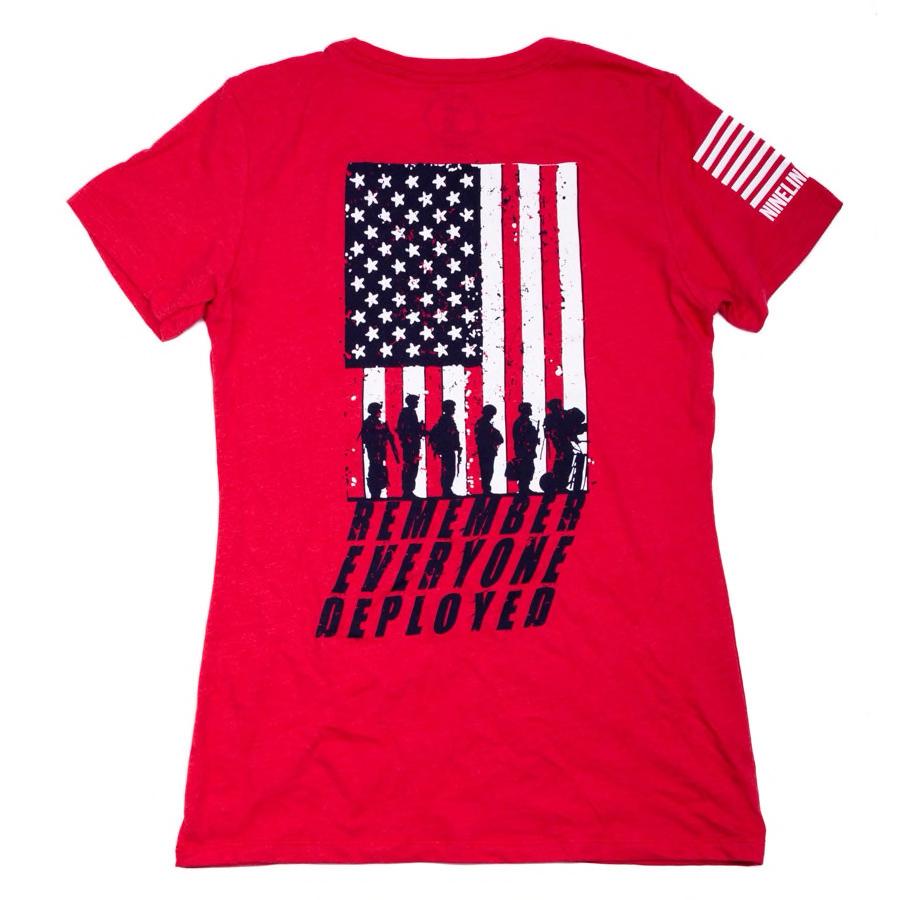 MRI Remember Everyone Deployed(R.E.D.) Women's T-Shirt, Red/Grey