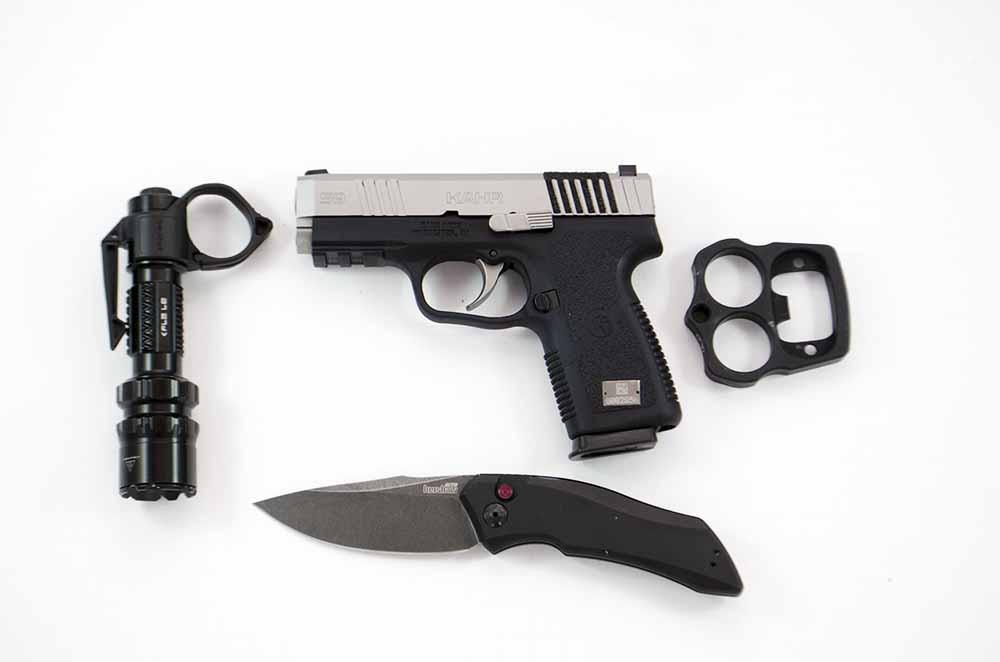Kahr S9 EDC Pistol w/ Accessory Rail and Arachnigrip