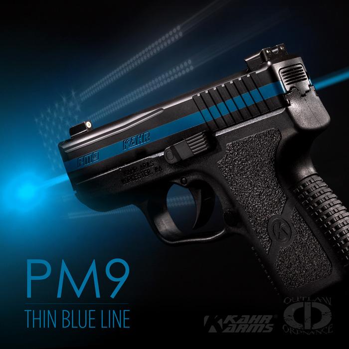 Kahr PM9 Thin Blue Line