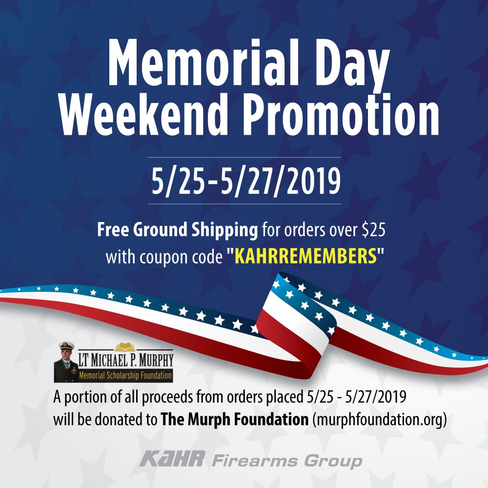 Memorial Day Weekend Promotion: 5/25-5/27/2019