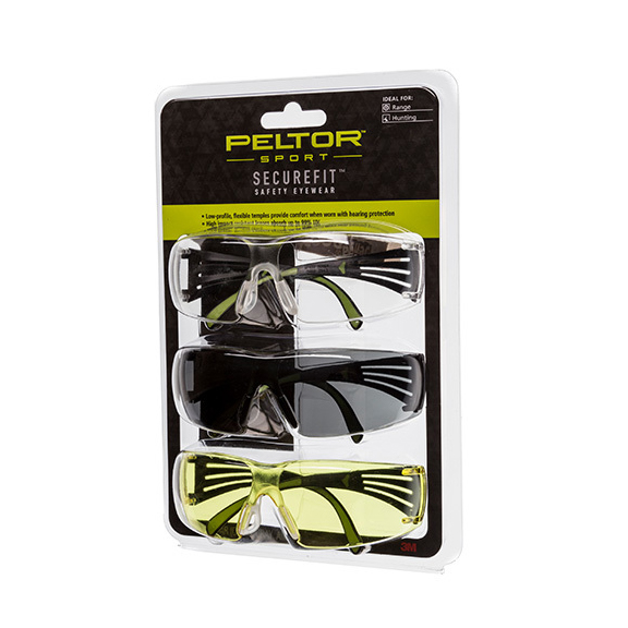 Peltor 400 Eye Protection, 3 Pack