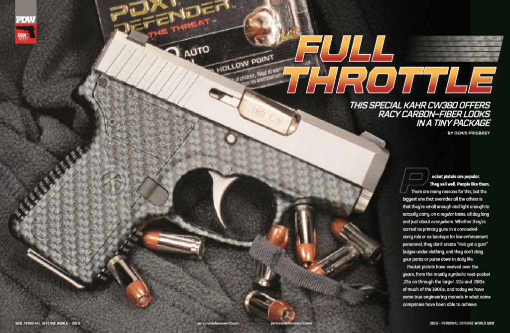 Full Throttle: This Special Kahr CW380 Offers Racy Carbon-Fiber Looks in a Tiny Package