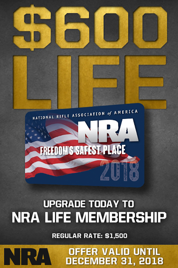 Special offer on NRA Life Membership