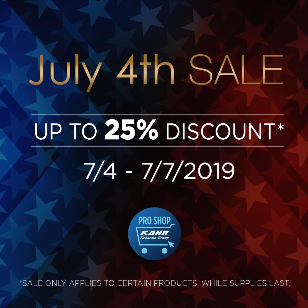 July 4th SALE • 7/4 - 7/7/2019