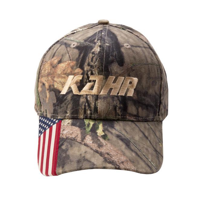 KAHR cap Camo with Flag