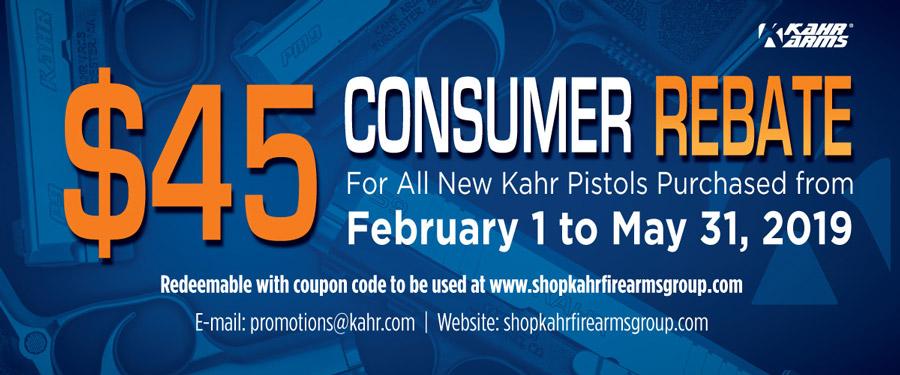 Kahr Arms Consumer Rebate 2019