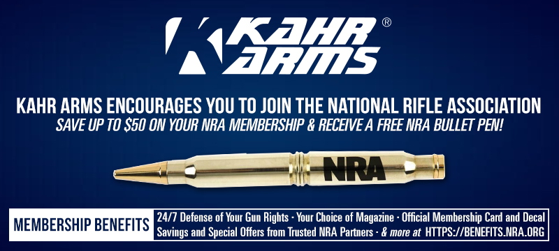 Kahr Arms encourages you to join the National Rifle Association