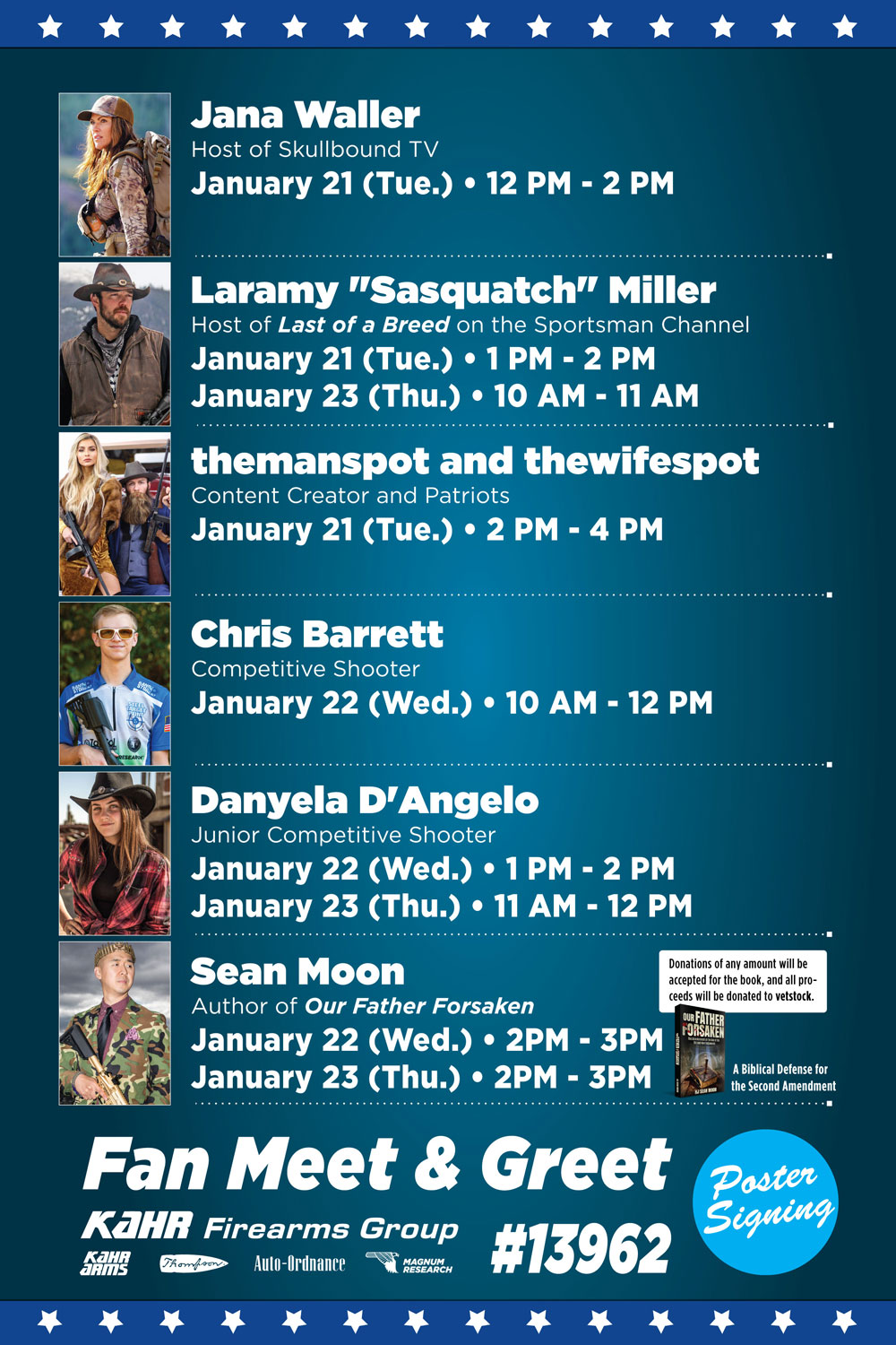 Kahr Firearms Group Attends Its 26th SHOT Show with Celebrity Line-Up In Booth