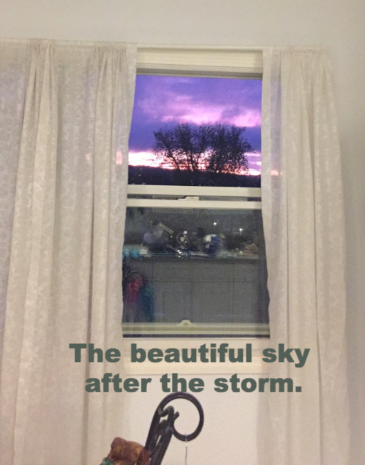 The sky after the storm