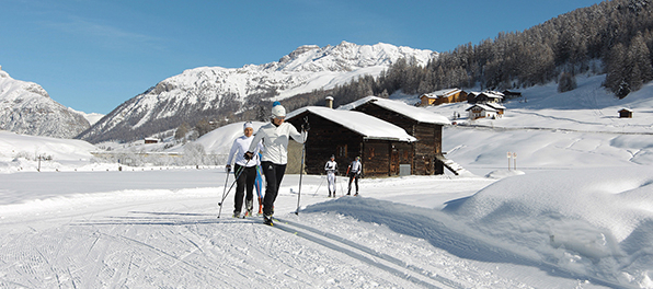 image: cross country skiing in Livigno