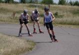 Roller ski racers