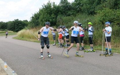 Team sprint roller ski race