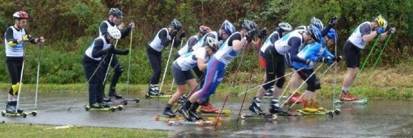 Start of roller ski race