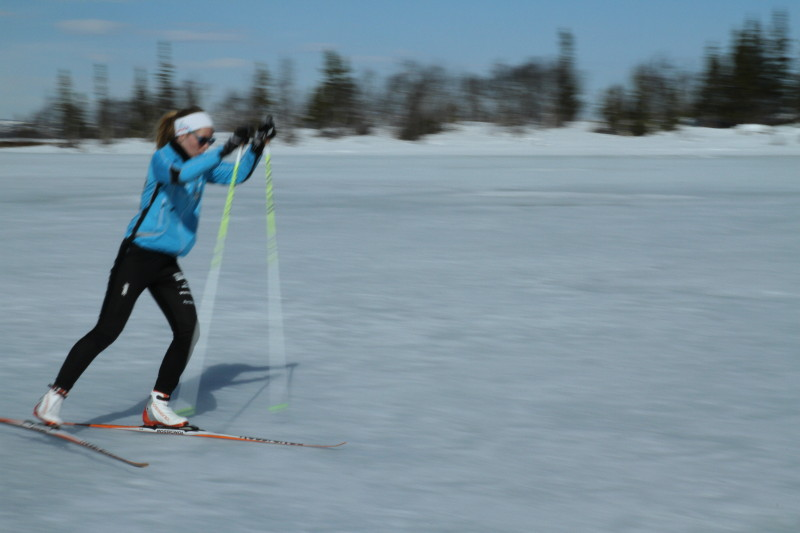 Skiers in the Birkebeiner race