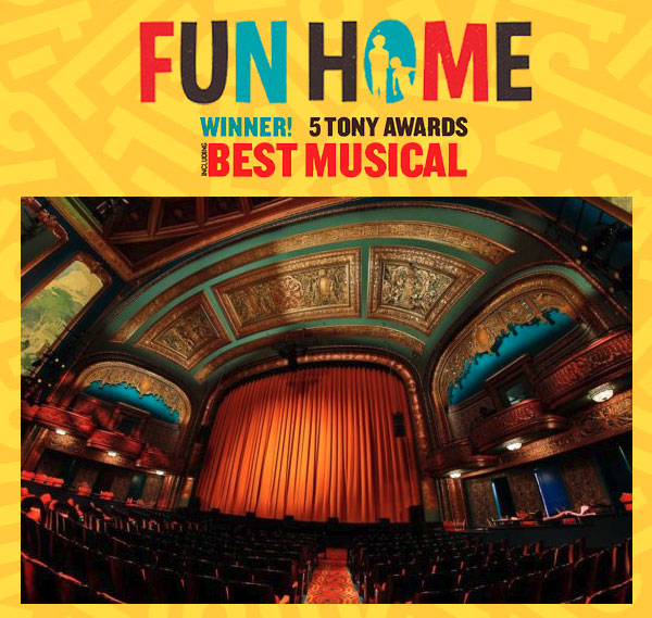 """""""Fun Home"""" Comes to SF's Curran - Winner of 5 Tony Awards including Best Musical"""