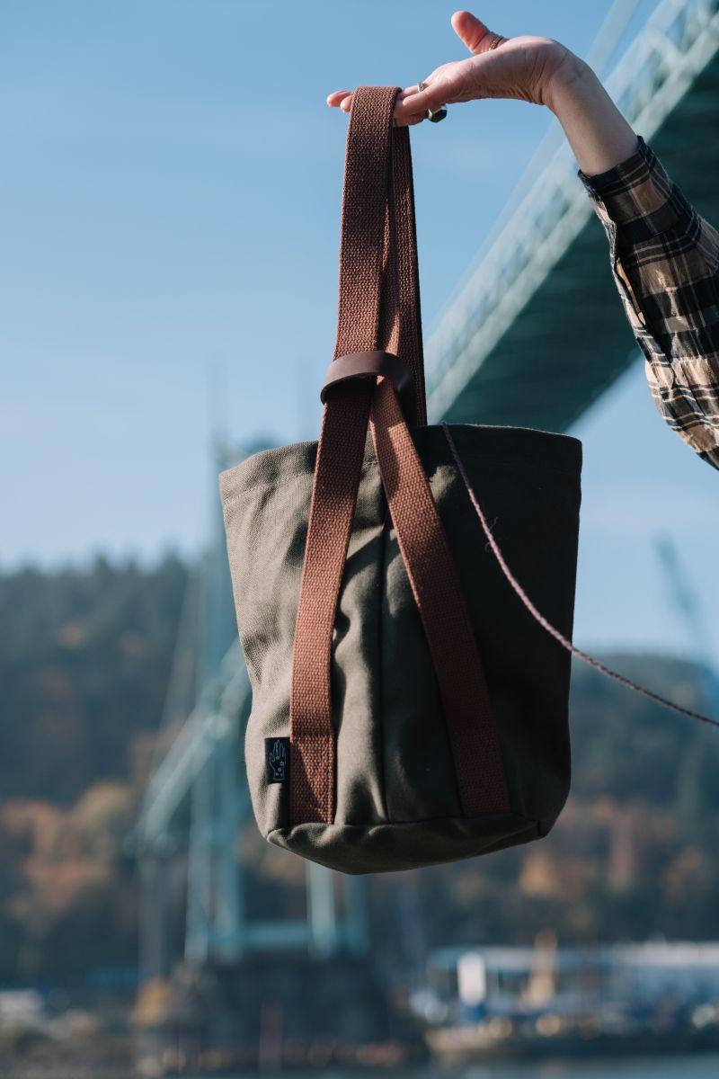 Mini Knitter's Backpack in Pines