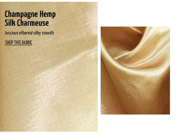 Offset Warehouse Ethical Fabric Champagne Hemp Silk Charmeuse