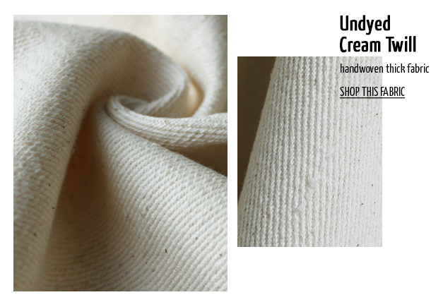 Offset Warehouse Ethical Fabric Undyed Cream Twill