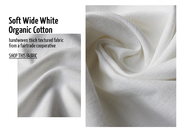 Offset Warehouse Ethical Fabric Soft Wide White Organic Cotton