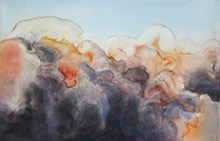 Image: Julie Goodwin, Immersing Plume. 2009 watercolour on paper, 66 x 102 cm The Cunningham Dax Collection