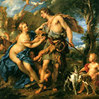 Francois Le Moyne. Venus and Adonis (1729). Copyright Wikimedia Commons