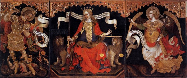 Jacobello del Fiore, Justice seated between the Archangels Michael and Gabriel (1421) © Courtesy of Ministero dei beni e delle attività culturali e del turismo - Museo Nazionale Gallerie dell'Accademia di Venezia