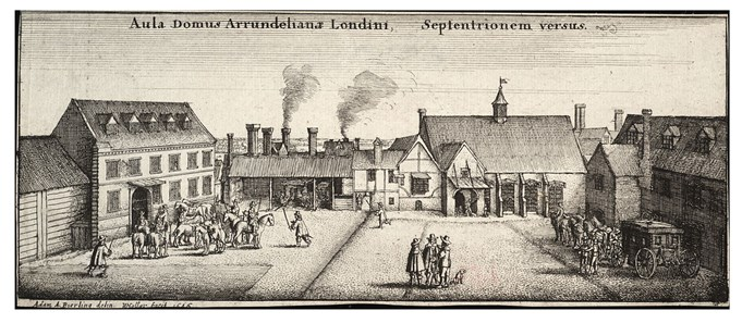 Image: Arundel House, London, 1646. Wenceslaus Hollar British Museum, Wikimedia Commons.