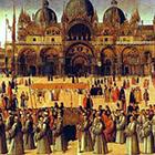 Gentile Bellini, 1496, Procession in St. Mark's Square Tempera on canvas. Courtesy of Wikimedia Commons