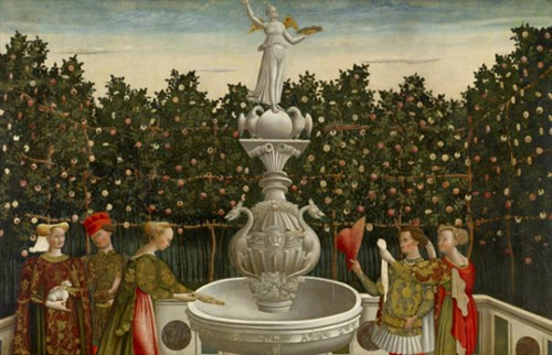 Image: Master of the Stories of Helen, Antonio Vivarini (studio of), The Garden of Love (c.1465-1470), National Gallery of Victoria, Melbourne, Felton Bequest, 1948, 1827-4.